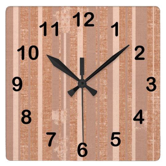 Shades of Brown Clock