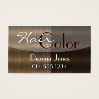 Shades of Brown Hair 4 Color Salon Business Cards