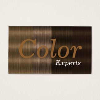 Shades of Brown Hair Color Salon Business Cards