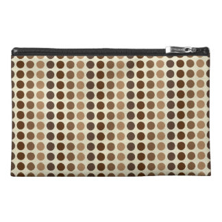 Shades Of Brown Polka Dots Travel Accessories Bags