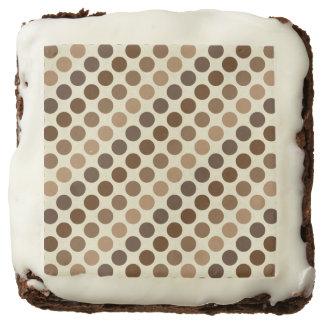 Shades Of Brown Polka Dots Brownie