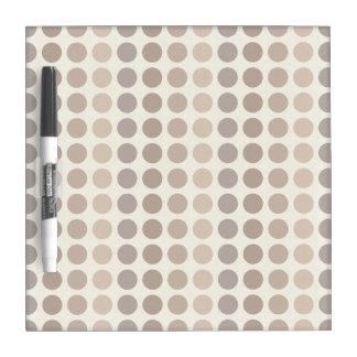 Shades of Brown Polka Dots by Shirley Taylor Dry Erase Board