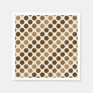 Shades Of Brown Polka Dots by Shirley Taylor Paper Napkin