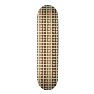 Shades of Brown Polka Dots by Shirley Taylor Skateboard Deck