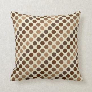 Shades Of Brown Polka Dots by Shirley Taylor Throw Pillow