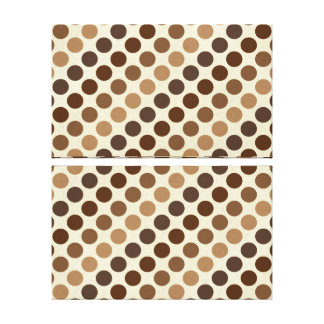 Shades Of Brown Polka Dots Canvas Print