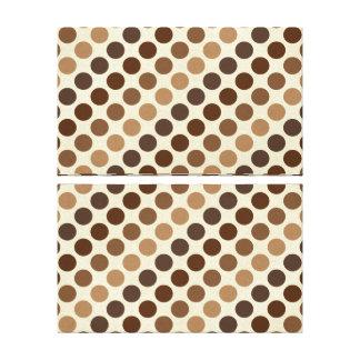 Shades Of Brown Polka Dots Canvas Print