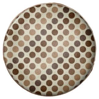 Shades Of Brown Polka Dots Chocolate Dipped Oreo