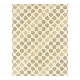 Shades Of Brown Polka Dots Letterhead