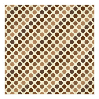 Shades Of Brown Polka Dots Photo Print