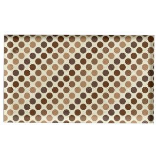 Shades Of Brown Polka Dots Table Card Holders