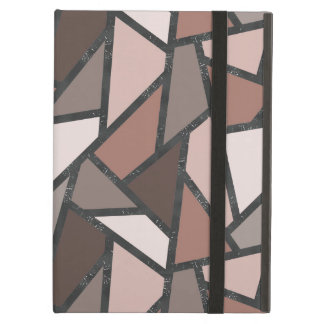 Shades of brown stained glass pattern case for iPad air