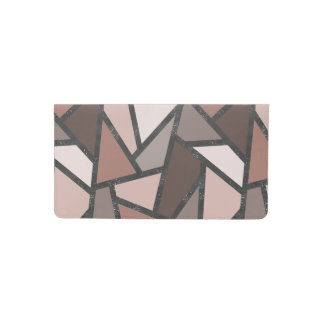 Shades of brown stained glass pattern checkbook cover