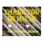 """[ Thumbnail: Shades of Brown """"Thank You So Much!"""" Postcard ]"""
