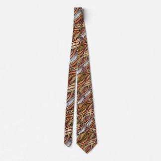 Shades of Brown Waves custom tie