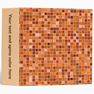 Shades Of Copper 'Watery' Mosaic Tile Pattern 3 Ring Binder