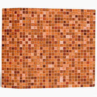 Shades Of Copper 'Watery' Mosaic Tile Pattern Binder