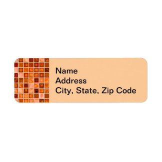 Shades Of Copper 'Watery' Mosaic Tile Pattern Return Address Label