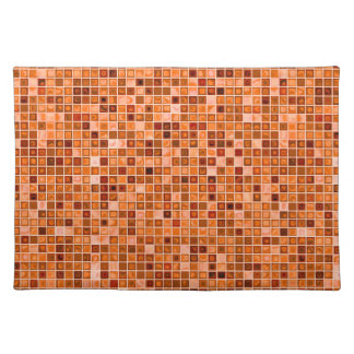 Shades Of Copper 'Watery' Mosaic Tile Pattern Cloth Placemat
