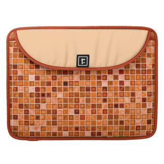 Shades Of Copper 'Watery' Mosaic Tile Pattern Sleeve For MacBooks