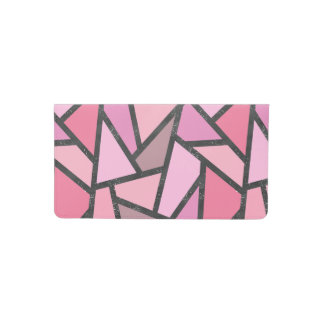 Shades of coral stained glass pattern checkbook cover