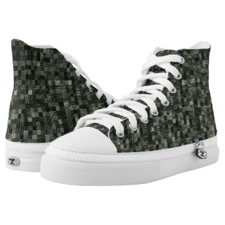 Shades Of Deep Murky Ocean Green High-Top Sneakers