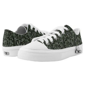 Shades Of Deep Murky Ocean Green Low-Top Sneakers