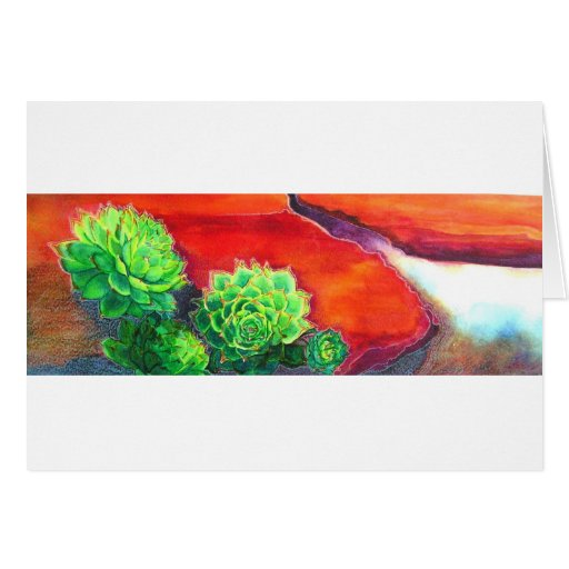 Shades of Desert Succulents Greeting Card