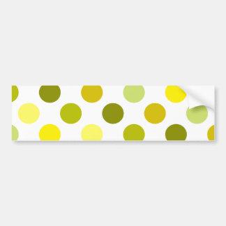 Shades of Gold Polka Dots Bumper Sticker
