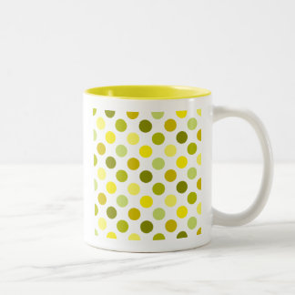 Shades of Gold Polka Dots Two-Tone Coffee Mug