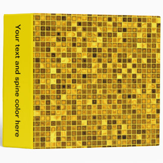 Shades Of Goldenrod 'Watery' Mosaic Tiles Pattern Binders