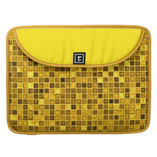 Shades Of Goldenrod 'Watery' Mosaic Tiles Pattern MacBook Pro Sleeve