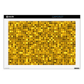 Shades Of Goldenrod 'Watery' Mosaic Tiles Pattern Laptop Decal