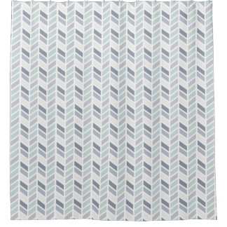 Blue And Gray Shower Curtains Zazzle