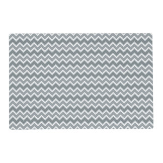 Shades of Gray Chevron Laminated Placemat