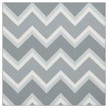 Shades of Gray Chevron Striped Fabric