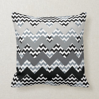 shades of gray chevrons throw pillow