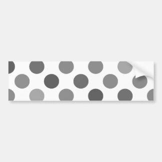 Shades Of Gray Polka Dots Bumper Sticker