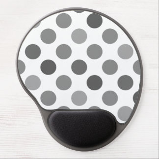 Shades Of Gray Polka Dots Gel Mouse Pad