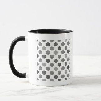 Shades Of Gray Polka Dots Mug