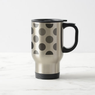 Shades Of Gray Polka Dots Travel Mug