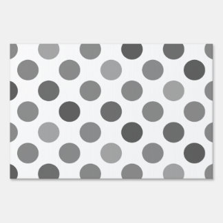 Shades Of Gray Polka Dots Yard Signs