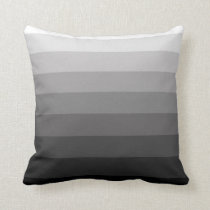 Shades of Gray Stripe Pattern Pillow