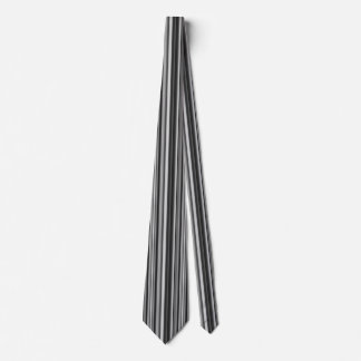Shades of Gray Stripes Neck Tie