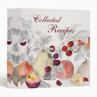 Shades of Gray with Fruit Recipe Binder