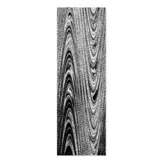 Shades of Gray Wood Grain Bookmark Mini Business Card
