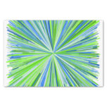 [ Thumbnail: Shades of Green and Blue Line Burst Pattern Tissue Paper ]