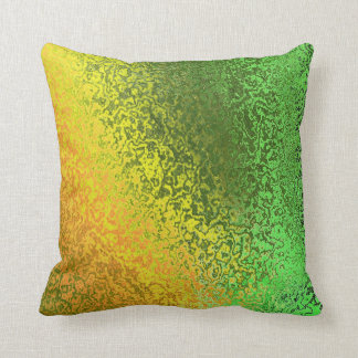 Shades of Green and Gold Pattern Pillow