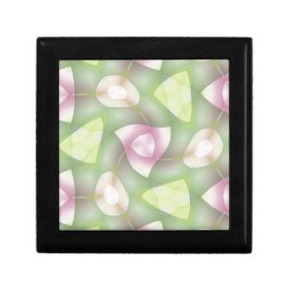 Shades of Green and Pink Twisted Geometrics Keepsake Box