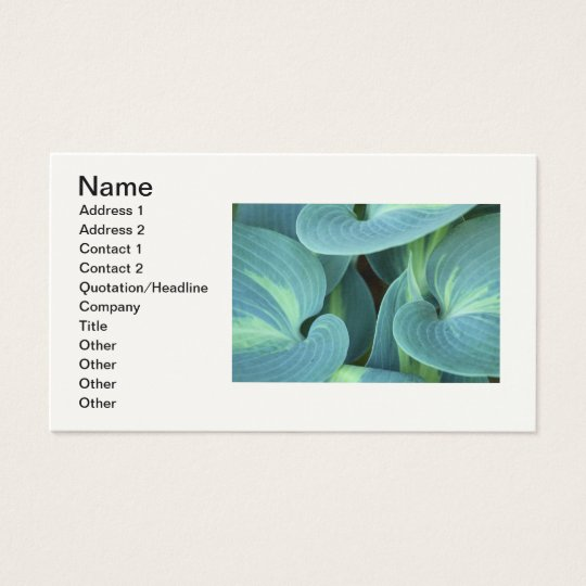Shades of Green Business Card